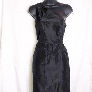 J. Crew One Shoulder Black Dress
